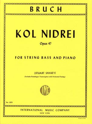 Max Bruch - Kol Nidrei op. 47 - String bass - Sheet Music - di-arezzo.co.uk