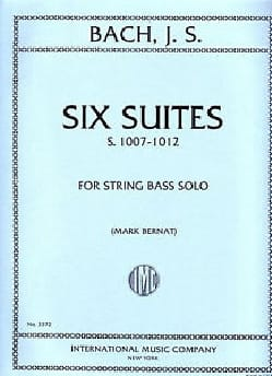 6 Suites BWV 1007-1012 - String bass BACH Partition laflutedepan