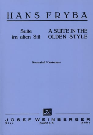 Hans Fryba - Suite in the olden style - Sheet Music - di-arezzo.com