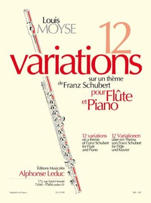 Louis Moyse - 12 Variations on a Schubert Theme - Sheet Music - di-arezzo.com