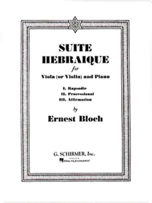 Ernest Bloch - Hebrew Suite - Sheet Music - di-arezzo.co.uk