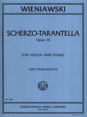 WIENIAWSKI - Scherzo-Tarantella op. 16 - Sheet Music - di-arezzo.co.uk