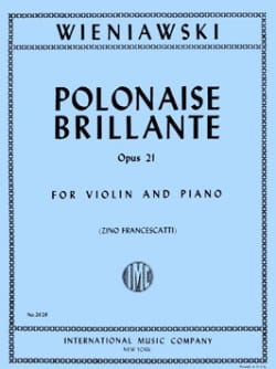WIENIAWSKI - Polish Brillante Op. 21 In the Major - Partitura - di-arezzo.es