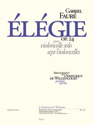 Gabriel Fauré - Elegy op. 24 - Cellos - Sheet Music - di-arezzo.co.uk