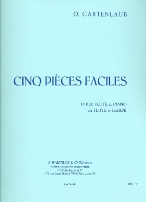 Odette Gartenlaub - 5 Pièces faciles - Flûte piano harpe - Partition - di-arezzo.fr