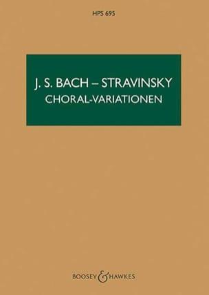 Bach Johann Sebastian / Stravinsky Igor - Choral-Variationen - Partitur - Sheet Music - di-arezzo.co.uk