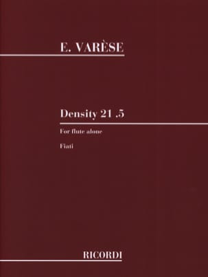 Density 21.5 - Edgard Varèse - Partition - laflutedepan.com