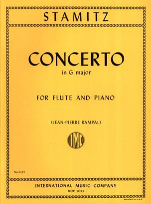 Carl Stamitz - Concerto in G major op. 29 – Flute piano - Partition - di-arezzo.fr