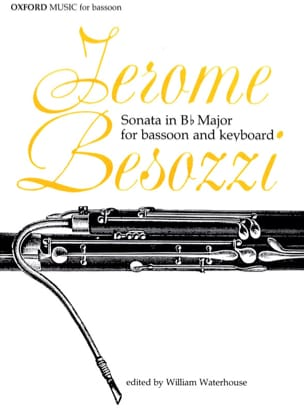 Jerome Besozzi - Sonata in Bb Major – Bassoon Keyboard - Partition - di-arezzo.fr