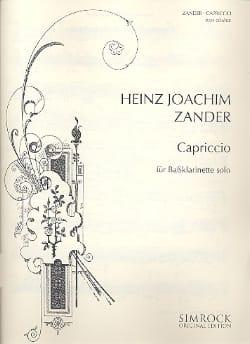 Heinz Joachim Zander - caprice - Sheet Music - di-arezzo.com