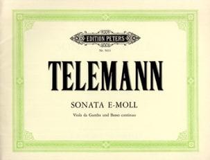 Georg Philipp Telemann - Sonata e-moll – Viola da gamba basso continuo - Partition - di-arezzo.fr