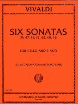 Antonio Vivaldi - 6 Sonates – Violoncelle - Partition - di-arezzo.fr
