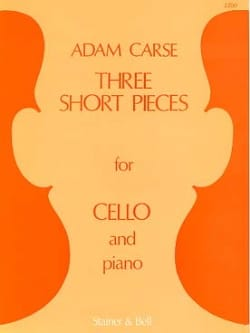 Three Short Pieces Adam Carse Partition Violoncelle - laflutedepan