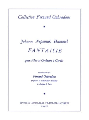HUMMEL - Fantasy - Alto - Sheet Music - di-arezzo.co.uk
