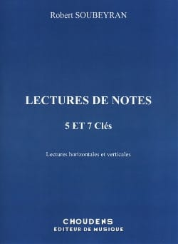 Lecture de notes - 5 et 7 Clés Robert Soubeyran Partition laflutedepan