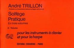 Solfège pratique - Volume 3 - Clavier et harpe - laflutedepan.com
