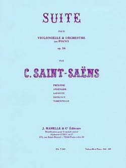 Camille Saint-Saëns - Suite Op. 16 For Cello and Orchestra - Sheet Music - di-arezzo.co.uk