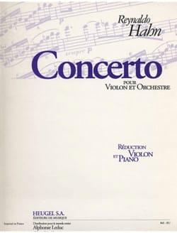 Reynaldo Hahn - Concerto pour violon - Partition - di-arezzo.fr