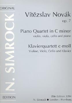 Vitezslav Novak - Klavierquartet c-moll op. 7 –Stimmen - Partition - di-arezzo.fr