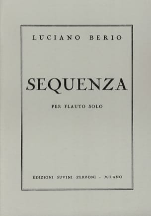 Luciano Berio - Sequenza I - Solo Flauto - Partitura - di-arezzo.it