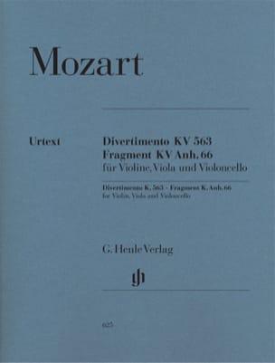 Wolfgang Amadeus Mozart - Divertimento KV 563 · Fragment KV Anh. 66 - Partition - di-arezzo.fr