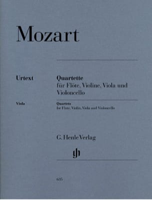 MOZART - Quartets with flute - flute, violin, viola and cello - Partition - di-arezzo.co.uk