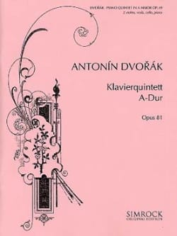 DVORAK - Klavierquintett A-Dur op. 81 - Stimmen - Sheet Music - di-arezzo.co.uk