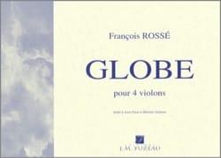Globe François Rossé Partition Quatuors - laflutedepan