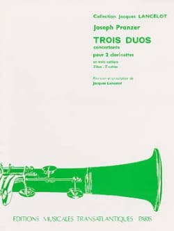 Joseph Pranzer - 3 Concert Duets - 2nd Duet for 2 clarinets - Sheet Music - di-arezzo.co.uk
