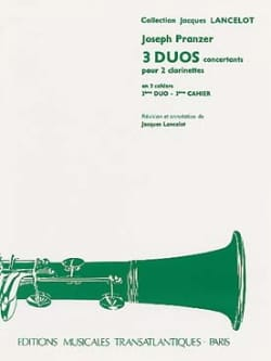 Joseph Pranzer - 3 Concert Duets - 3rd Duet for 2 clarinets - Sheet Music - di-arezzo.co.uk