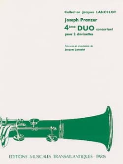 Joseph Pranzer - 4th Concertant Duo - 2 Clarinets - Sheet Music - di-arezzo.co.uk