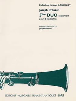 Joseph Pranzer - 5th concerto duo for 2 clarinets - Sheet Music - di-arezzo.com