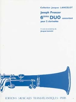 Joseph Pranzer - 6th Duet for 2 clarinets - Sheet Music - di-arezzo.com