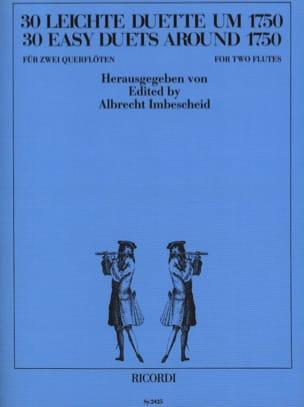 30 Leichte Duette um 1750 - 2 Flöten Albrecht Imbescheid laflutedepan