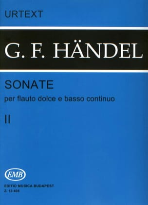 Sonates - Volume 2 - Flauto dolce e bc HAENDEL Partition laflutedepan