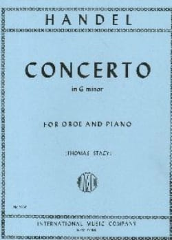 HAENDEL - Concerto in G minor - Oboe piano - Partition - di-arezzo.fr