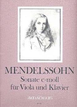Sonate c-moll - Viola MENDELSSOHN Partition Alto - laflutedepan