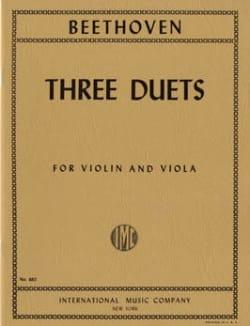 Ludwig van Beethoven - 3 Duets – Violin viola - Partition - di-arezzo.fr