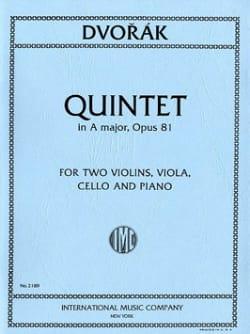 Quintet in A major op. 81 -Parts DVORAK Partition laflutedepan