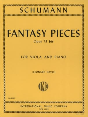 Fantasy Pieces op. 73 bis SCHUMANN Partition Alto - laflutedepan