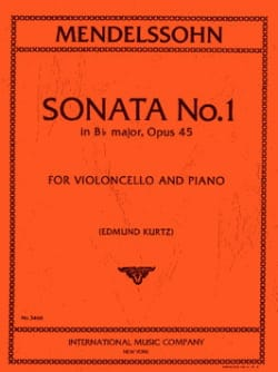Sonata n°1 in Bb Major, op. 45 – Violoncelle - laflutedepan.com