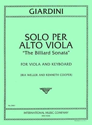 Solo per alto viola - The billiard sonata laflutedepan