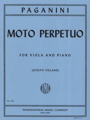 Niccolò Paganini - Moto perpetuo – Viola - Partition - di-arezzo.fr
