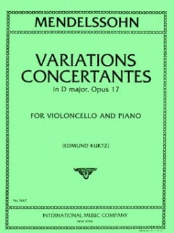 Bartholdy Felix Mendelssohn - Variations concertantes in D major, op. 17 - Partition - di-arezzo.fr