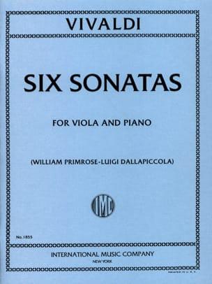 6 Sonatas - Viola VIVALDI Partition Alto - laflutedepan