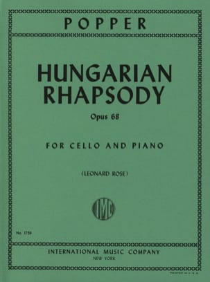 David Popper - Hungarian Rhapsody op. 68 - Partition - di-arezzo.co.uk