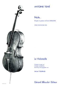 Nuits Antoine Tisné Partition Violoncelle - laflutedepan