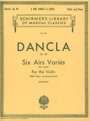Charles Dancla - 6 Various tunes op. 89 - Sheet Music - di-arezzo.co.uk