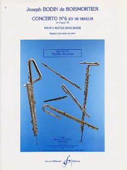 Concerto Op. 15 N° 6 en Mi Mineur - BOISMORTIER - laflutedepan.com