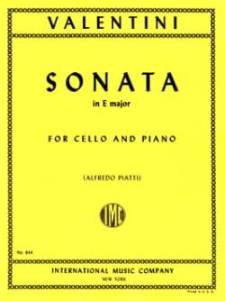 Sonata in E Major Giuseppe Valentini Partition laflutedepan
